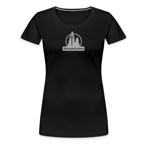 Ladies Silvery Glitz Tee - Women's Premium T-Shirt