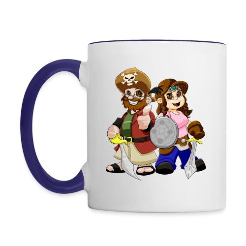 Wake up with PYEOG - Contrast Coffee Mug