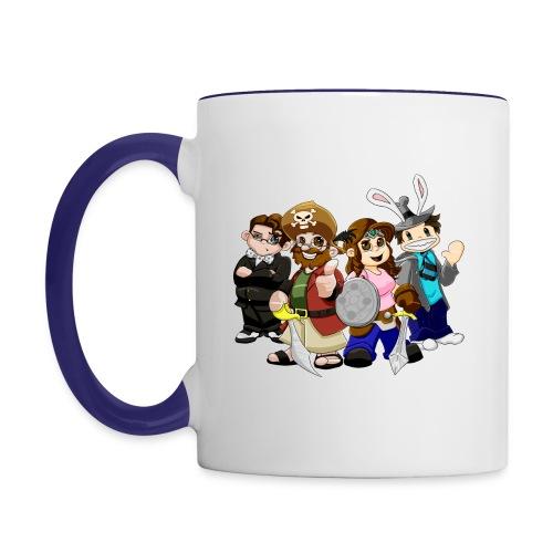 The whole gang's here - Contrast Coffee Mug