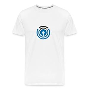 Transmit Logo White T-shirt - Men's Premium T-Shirt