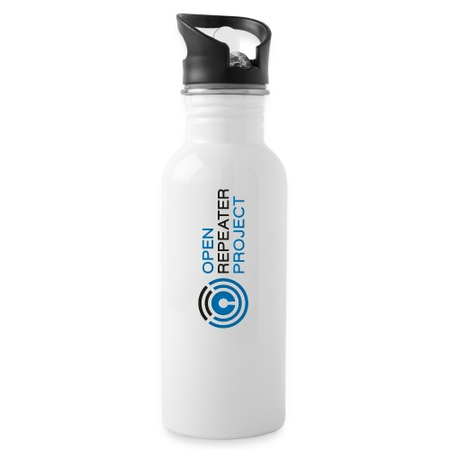 White Logo Water Container - Water Bottle