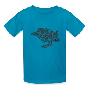 Tropical Turtle Kids T-Shirt from South Seas Tees - Kids' T-Shirt