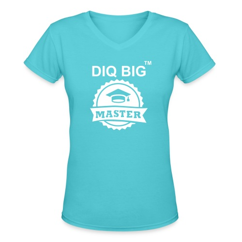 MASTER_DIQBIG - Women's V-Neck T-Shirt