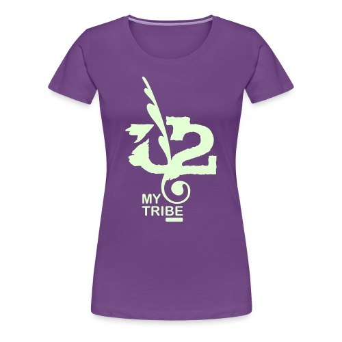 U+2=MY TRIBE - back+front glow - s/3xl - multi colors - Women's Premium T-Shirt