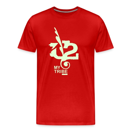 U+2=MY TRIBE - front print glow - s/5xl - multi colors - Men's Premium T-Shirt
