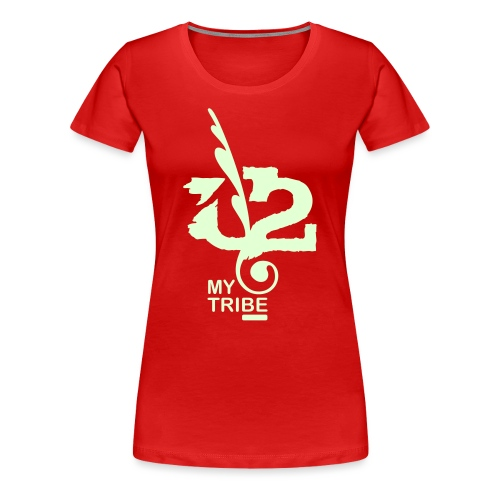 U+2=MY TRIBE - front print glow - s/3xl - multi colors - Women's Premium T-Shirt