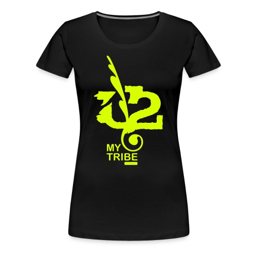 U+2=MY TRIBE - back+front neon/glow - s/3xl - multi colors - Women's Premium T-Shirt