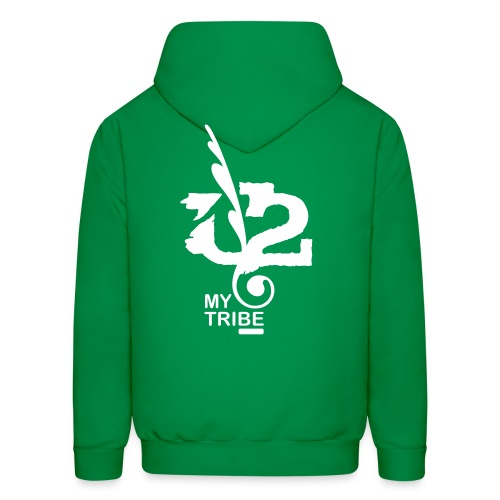 U+2=MY TRIBE - back+front - s/xxl - multi color - Men's Hoodie