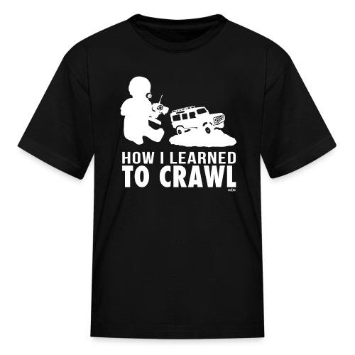How I Learned To Crawl KIDS White Print - Kids' T-Shirt