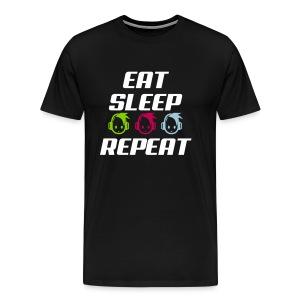 EatSleepHeadphone - Men's Premium T-Shirt