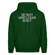 Hoodies ~ Men's Hoodie ~ Detroit Wheelchair Rugby