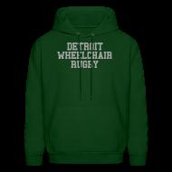 Hoodies ~ Men's Hoodie ~ Detroit Wheelchair Rugby