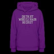 Hoodies ~ Women's Hoodie ~ Detroit Wheelchair Hockey