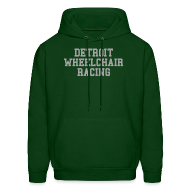 Hoodies ~ Men's Hoodie ~ Detroit Wheelchair Racing