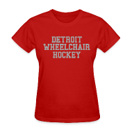 Women's T-Shirts ~ Women's T-Shirt ~ Detroit Wheelchair Hockey