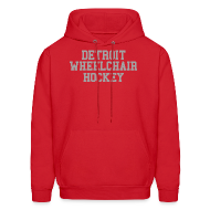 Hoodies ~ Men's Hoodie ~ Detroit Wheelchair Hockey