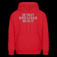 Hoodies ~ Men's Hoodie ~ Detroit Wheelchair Hockey