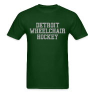 T-Shirts ~ Men's T-Shirt ~ Detroit Wheelchair Hockey