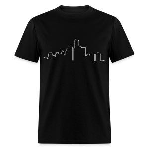 Detroit Skyline Line Drawing - Men's T-Shirt