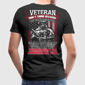 Veteran, Army, Memorial Day Military, Veterans Day - Men's Premium T-Shirt