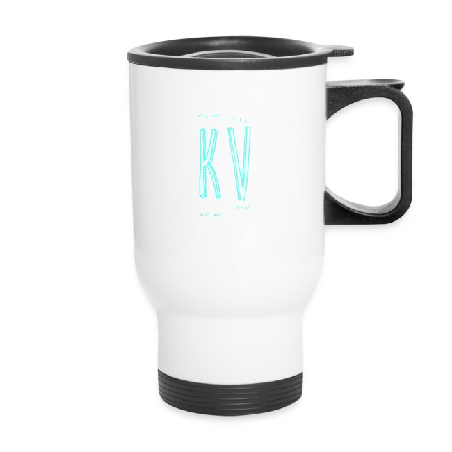 KevinsVids Logo Travel Mug - Text Only