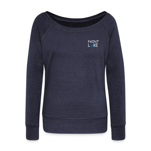Women's Wideneck Sweatshirt w Back - Women's Wideneck Sweatshirt