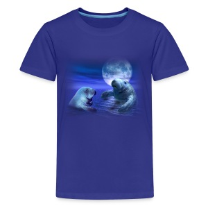 Manatees & the Moon - Kids' Premium T-Shirt