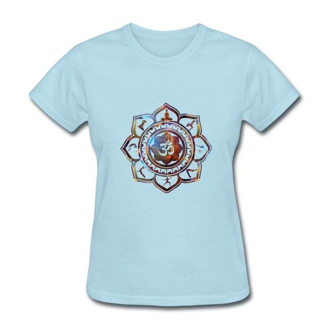 Ethos wear design and apparel om lotus flower yoga poses womens om lotus flower yoga poses womens tshirt mightylinksfo