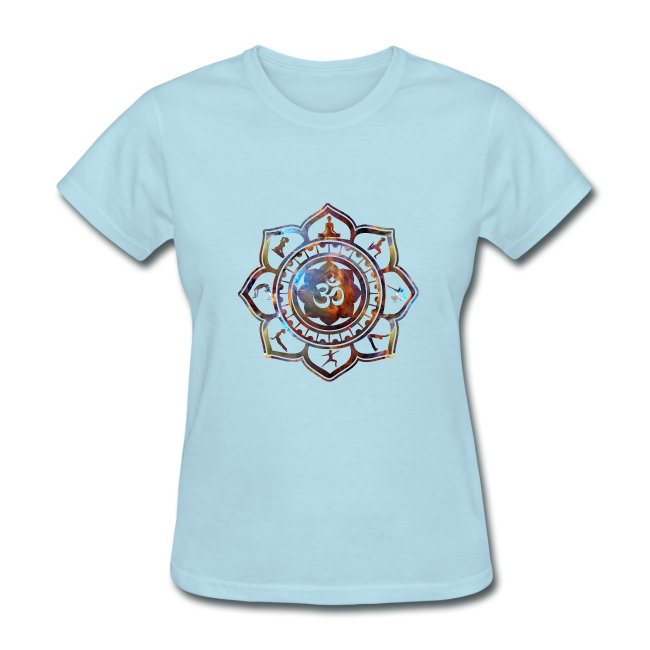 Ethos Wear Design And Apparel Om Lotus Flower Yoga Poses Womens