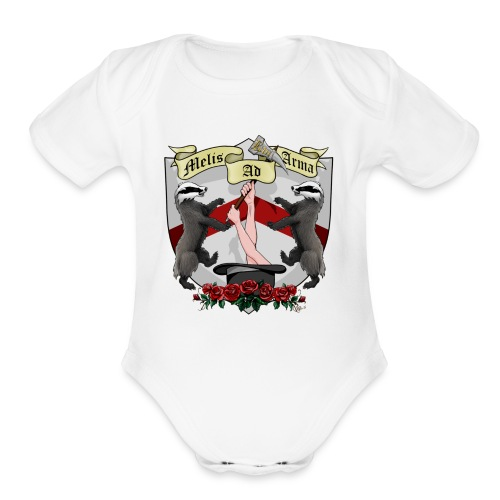 Melis Ad Arma - Baby One Piece Outfit - Organic Short Sleeve Baby Bodysuit