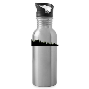 Silhouetted Treeline Water Bottle - Water Bottle