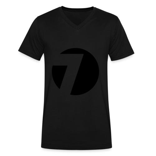 Circle 7 V-Neck - Black Velvet on Black - Men's V-Neck T-Shirt by Canvas