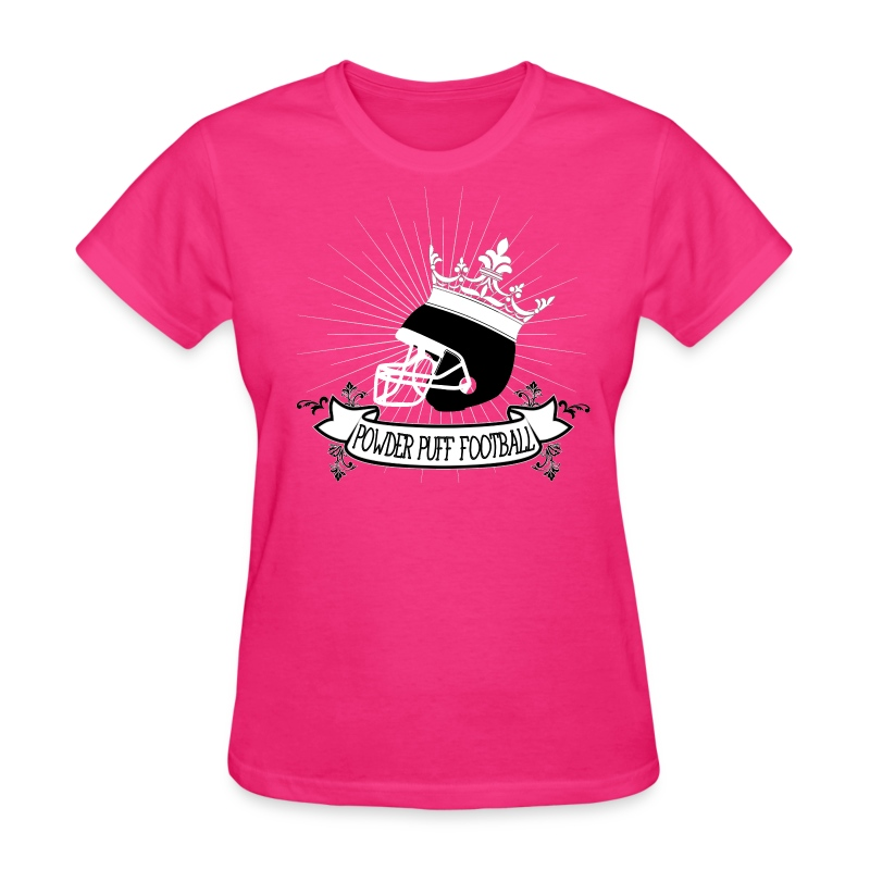 powder puff football t shirt spreadshirt