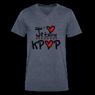 T-Shirts ~ Men's V-Neck T-Shirt by Canvas ~ Je t'aime KPOP Men's V-Neck T-Shirt by Canvas