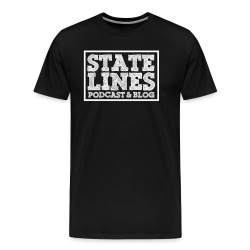 Men's White Logo Tee - Men's Premium T-Shirt