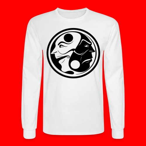 The Faces Of Yin & Yang - Men's Long Sleeve T-Shirt