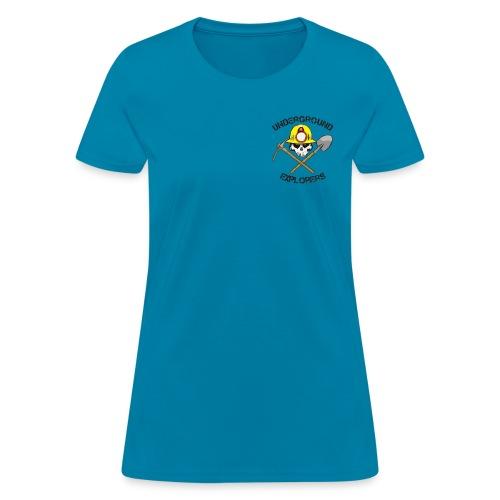Underground Explorers Turquoise Women's Logo Tee - Women's T-Shirt