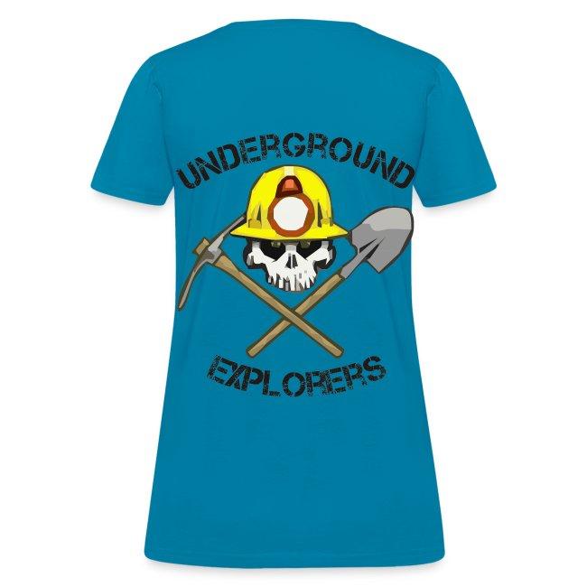 Underground Explorers Turquoise Women's Logo Tee