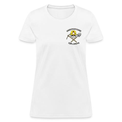 Underground Explorers White Women's Logo Tee - Women's T-Shirt