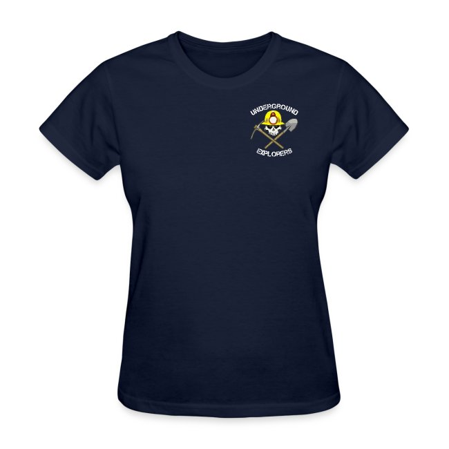 Underground Explorers Navy Women's Logo Tee