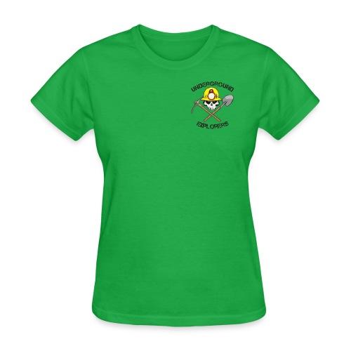 Underground Explorers Bright Green Women's Logo Tee - Women's T-Shirt