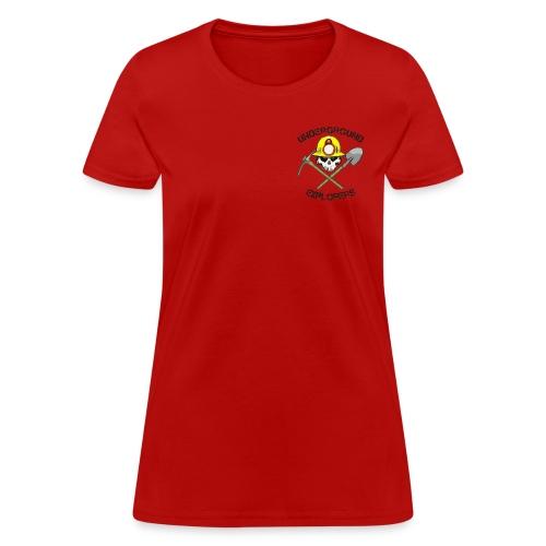 Underground Explorers Red Women's Logo Tee - Women's T-Shirt