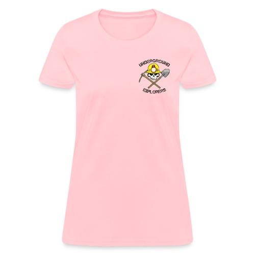 Underground Explorers Pink Women's Logo Tee - Women's T-Shirt