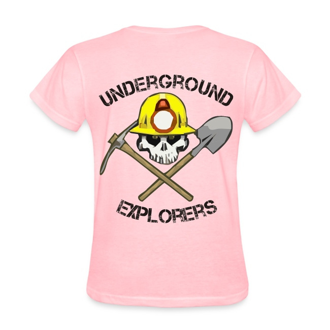 Underground Explorers Pink Women's Logo Tee