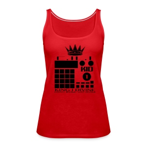 King I Divine Lost Jewelz BLK LOGO - Women's Premium Tank Top