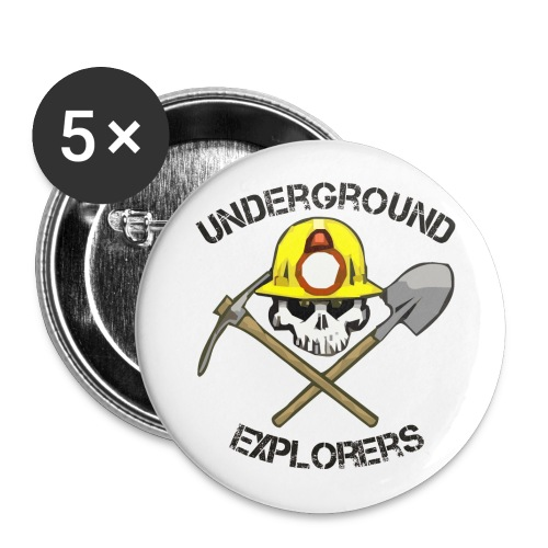 Underground Explorers Logo Button - Buttons large 2.2'' (5-pack)