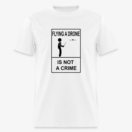 Not A Crime - LDE logo on back - Men's T-Shirt