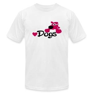 cute dog - Men's Fine Jersey T-Shirt