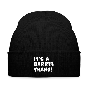 its a barrel thang knit cap  - Knit Cap with Cuff Print