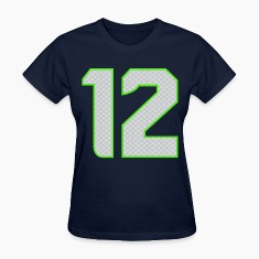 12th Man T-shirt Womens